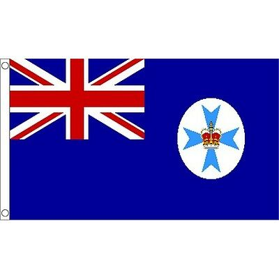 5ft x 3ft Queensland Flag With 2 Eyelets - Australian 5ft Metal
