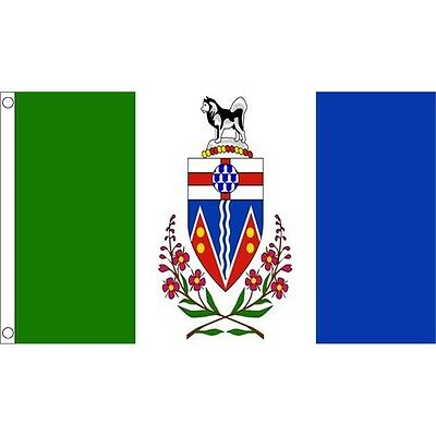 5ft x 3ft Yukon Flag With 2 Eyelets - Canada Canadian 150cm 90cm (5ft ) Metal