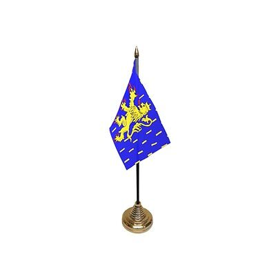 Pack Of 12 Franche Comte Table Flags - French Flag France French Region County