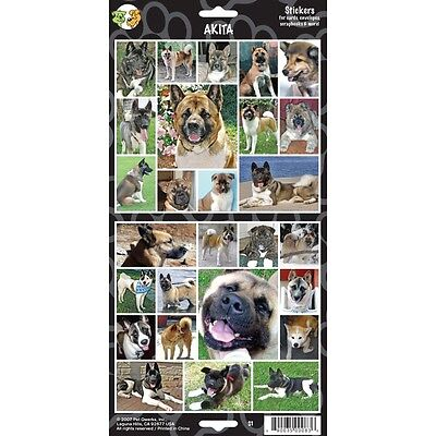 Sheet Of 27 Akita Dog Stickers - Stickersx Lovers Gift Personalise Decorate