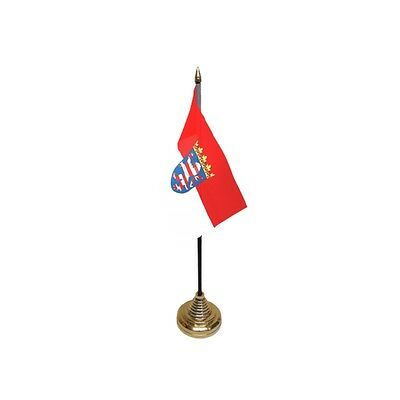 Pack Of 12 Hesse Table Flags - Flag Pck German Germany Region Province Country