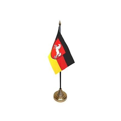 Pack Of 12 Lower Saxony Table Flags - Flag Pck German Germany Region Province