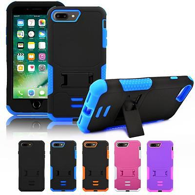 Rugged Hybrid Box Shockproof Hard Case Cover Kick-Stand For Apple iPhone 7 Plus