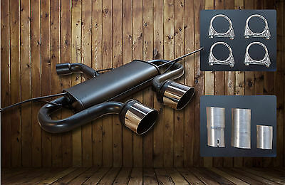 Exhaust for Golf 5 6 V VI MK5 R32 GTI TDI Sport Muffler Duplex Rear Back Box.