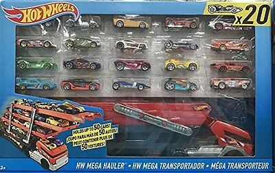 Hot Wheels HW Mega Hauler with 20 Die Cast Car/Vehicles Set New 2016