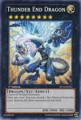 1x  Lightly Played Thunder End Dragon - SP14-EN021 - Common - 1st Edition Yugioh