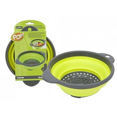 Pop Up Space Saving Camping Colander - Foldable Collapsing Cooking Utensils
