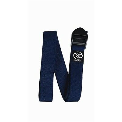 2.5m Blue Cinch Yoga Belt - Mad Cotton Fitness Equipment Non Slip Buckle