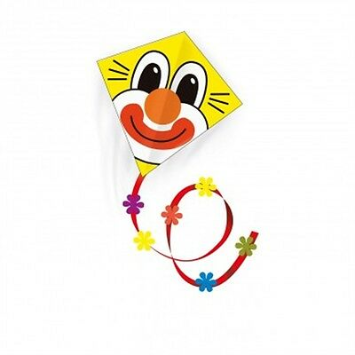 "25"" Clown Single Line Kite - Gunther Yellow & Red Childrens Kids Colourful"