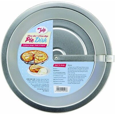 22 x 2.5cm Clean Cut Pie Pan - Tala Traditional Design Dish 22cm Dia Baking