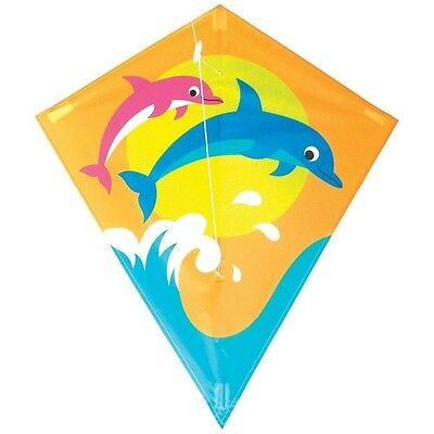 60 x 70cm Children's Dolphin Kite - Breeze Outdoor Sports Easy To Fly