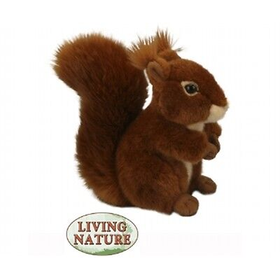 Large Squirrel Plush Soft Toy - Living Nature Novelty Cuddly Stocking Filler