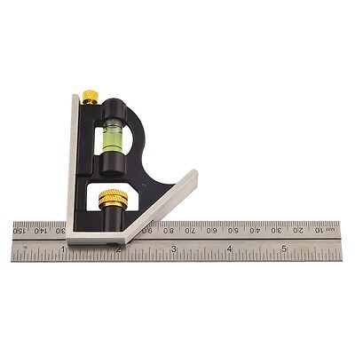 150mm Mini Combination Square - Rolson Ruler Measuring Level Device Tool (50850)