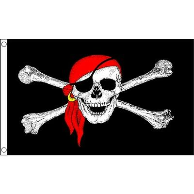 5 x 3' Pirate Bandana Flag - Party Decoration 5ft 3ft With Metal Eyelets