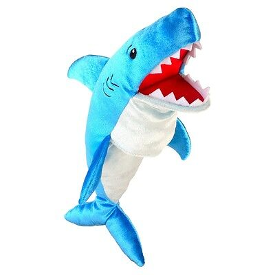 Shark Soft Animal Hand Puppet - Fiesta Craft Puppets Childs Role Play Toy