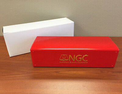 RED & GOLD Brand New NGC Storage Plastic Box ~ Each Box Holds 20 NGC Slabs