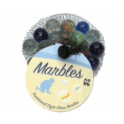 Bag Of 20 Marbles And 1 Die - Fun Novelty Gift Pocket Money Party Stocking