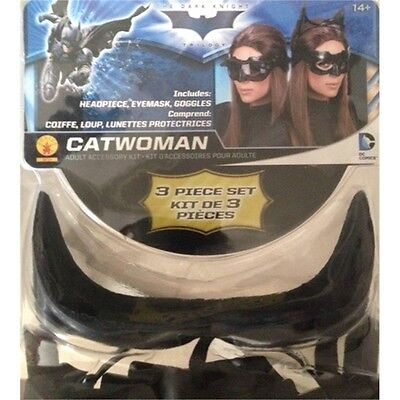 Ladies Deluxe Catwoman Goggles - Batman Villian Fancy Dress Party Costume Cat