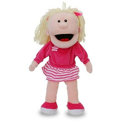 White Girl With Moving Mouth Hand Puppet - Fiesta Crafts