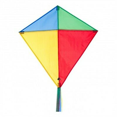 Hq Eddy Classic Colours Diamond Kite - Childrens Shaped Easy To Fly Durable