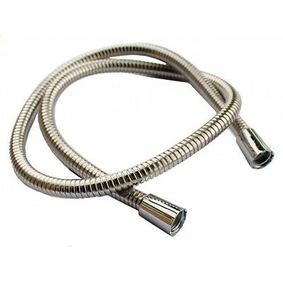 12mm x 1.25m Chrome Shower Hose - Oracstar Large Bore Stainless Steel 1.2m