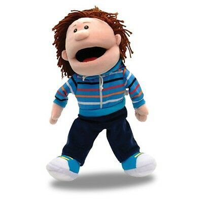 White Boy Moving Mouth Hand Puppet - Fiesta Crafts