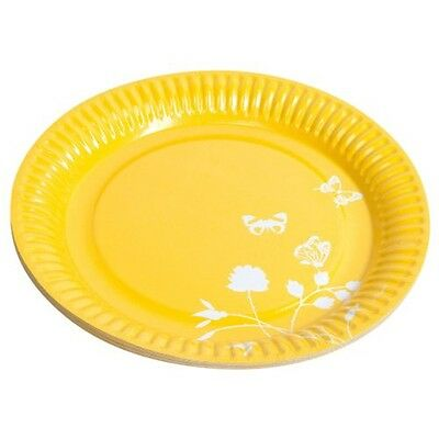 Amscan International 23cm Paper Plates, Pack Of 8, Yellow - 8 23 Plates Party