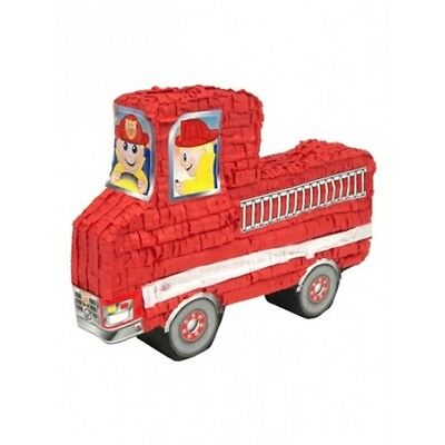 Red Fire Engine Pinata Party Decoration - Kids Childs Adults Birthday Game