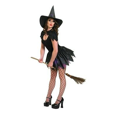 Black Ladies Witch Tutu Set - Adult Sexy Halloween Fancy Dress Accessories