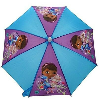 Disney Doc Mcstuffins Umbrella - 59cm Mc Stuffins Kids Childrens School Stay