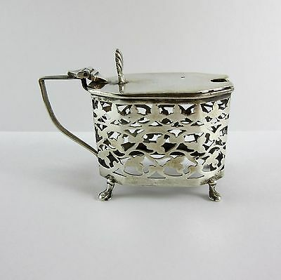 Antique English Sterling Silver Mustard Pot 1907