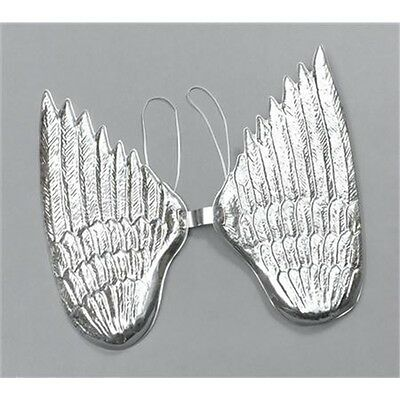 Large Silver Plastic Angel Wings - New Hen Fancy Costume Party