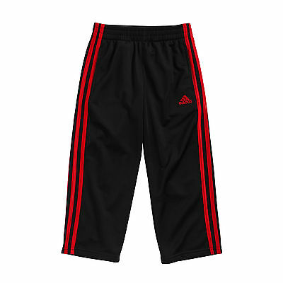 Adidas Boys Pants 2T 4T 5 6 7 NWT Black and Red