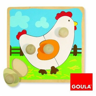 Goula Wooden Chicken Lift-out Puzzle (4 Pieces)