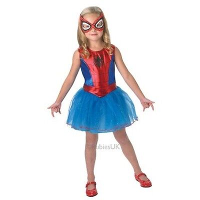 Large Girls Spidergirl Costume - 8-10 Years Spiderman Official Marvel Fancy