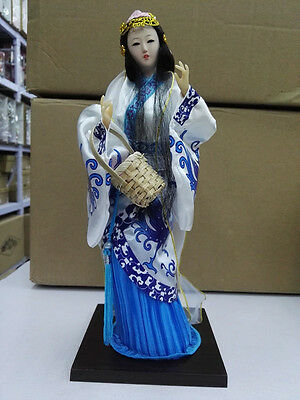 Oriental Broider Doll,Chinese style figurine China doll girl statue whi(xishi)