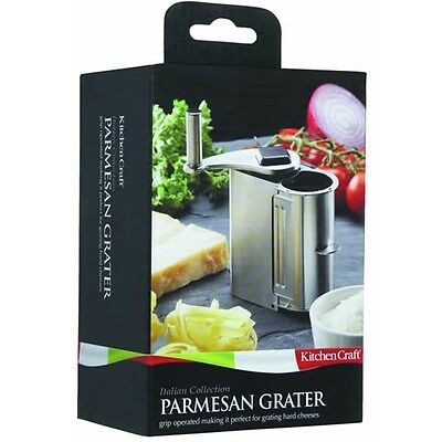 Rotary Stainless Steel Parmesan Cheese Grater - Italian Pasta Pizza Mill
