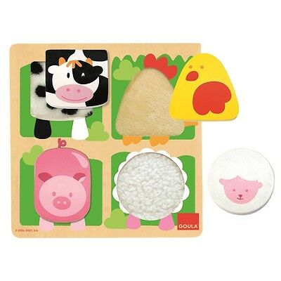 Goula Wooden Farm Fabric Puzzle
