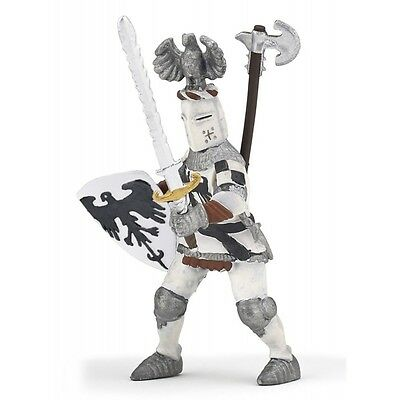 Papo White Crested Knight - Kids Toy Fantasy Figurine Knights & Castles Warrior