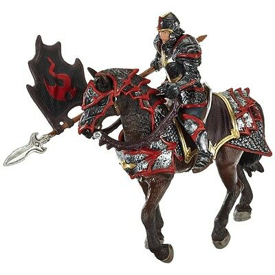 Schleich Dragon Knight On Horse With Lance Model - The World Of Knights Warrior