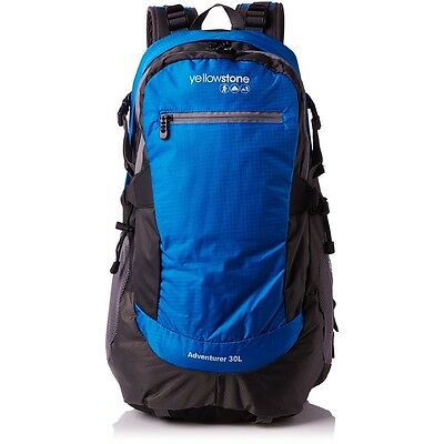 Yellowstone Adventurer Backpack - Green, 30 Litre - Camping 30l Green Outdoor