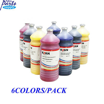 6colors x 1Liter KIIAN E-Gold Dye Sublimation Ink Italy for Roland/MimakiMutoh