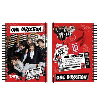 One Direction A4 Deluxe Spiral Notebook Stationery - Ringbinder Ring Binder 2