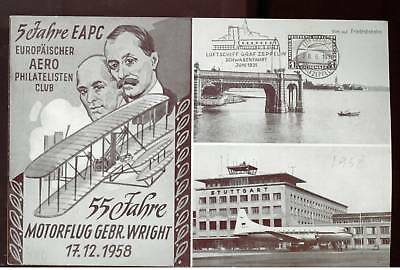 1958 DDR East Germany FFC Wright Brother Aviation Cover