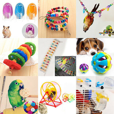 Parrot Toy Hamster Toy Chew Stand Hanging Entertainment Ball Bathroon Ware
