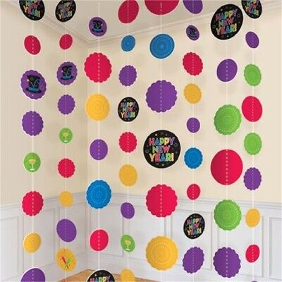 Multi-coloured Party String Decorations