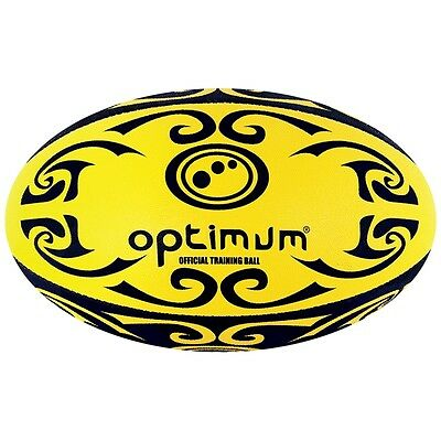 Size 3 Yellow Black Optimum Tribal Ball - And 2-ply Heavyweight Dimpled
