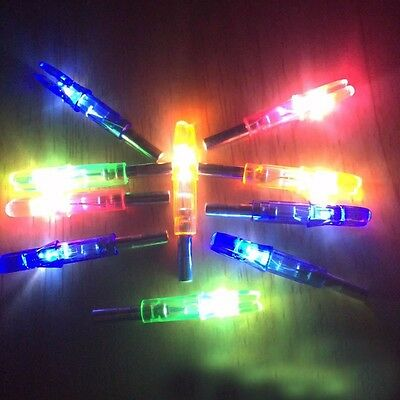6/12 PCS Shooting Archery Lighted Nock Compound Bow LED Lighted Arrow Nock