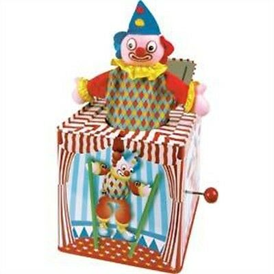 Clown Jack In The Box Toy - Colourful Metal Circus New