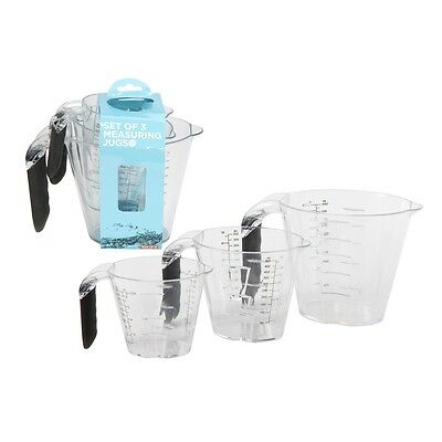 3 Piece Microwave Dishwasher Safe Measuring Jug Set - Ethos 3pc Kitchen